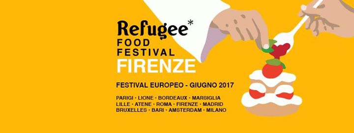 Refugee Food Festival Firenze banner