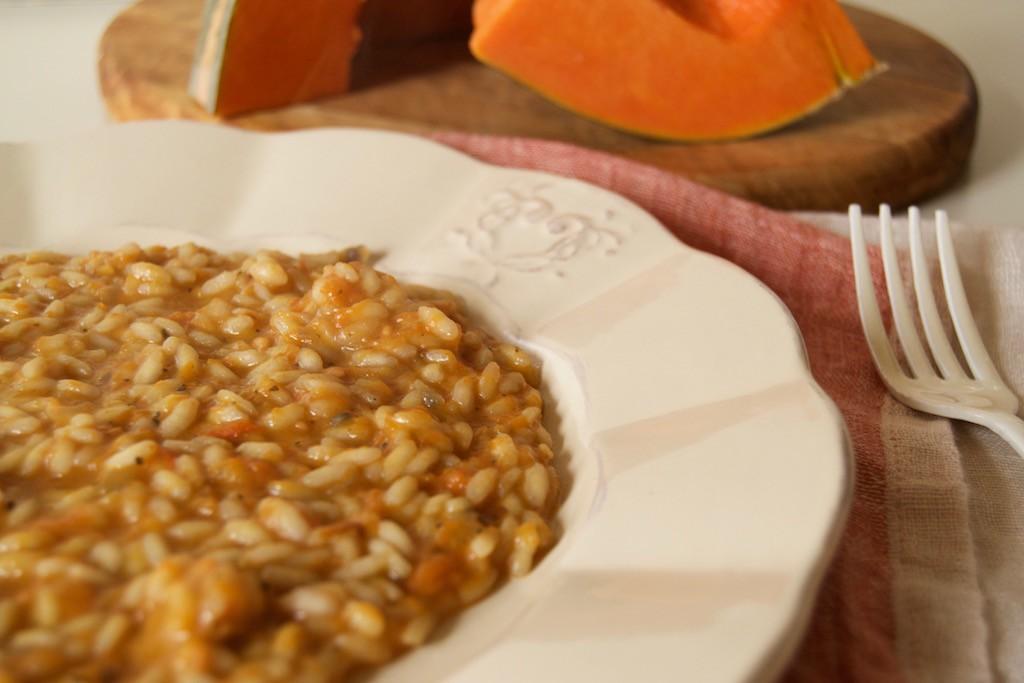 risotto zucca e burro di arachidi