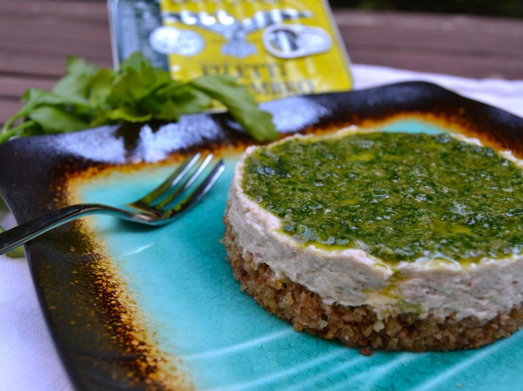 cheesecake sgombro e salva verde