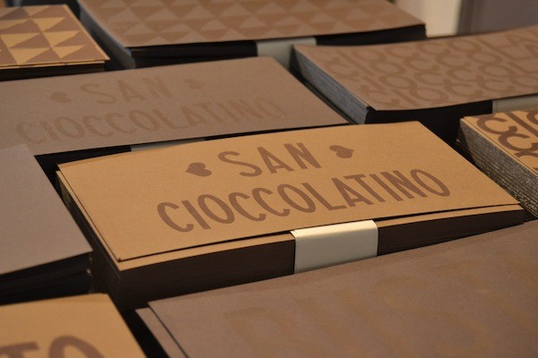 Biglietti Auguri cioccolato