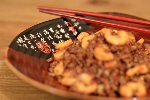 riso orientale gamberi e zenzero