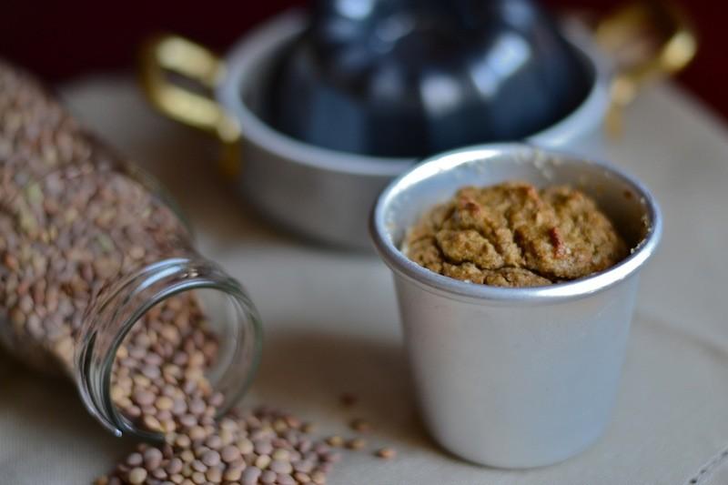 Flan speziato di lenticchie