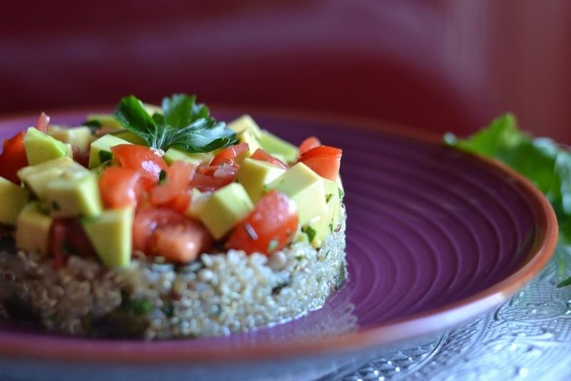 Timballo quinoa e guacamole