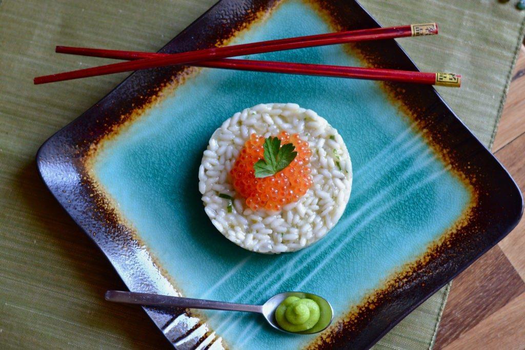 riso sushi wasabi e uova di trota.jpg
