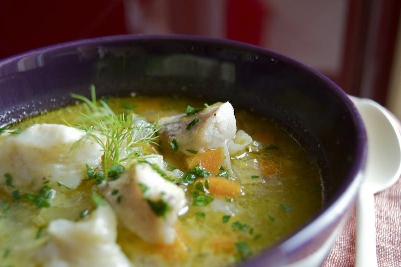 zuppa di pesce del Chelsea Market