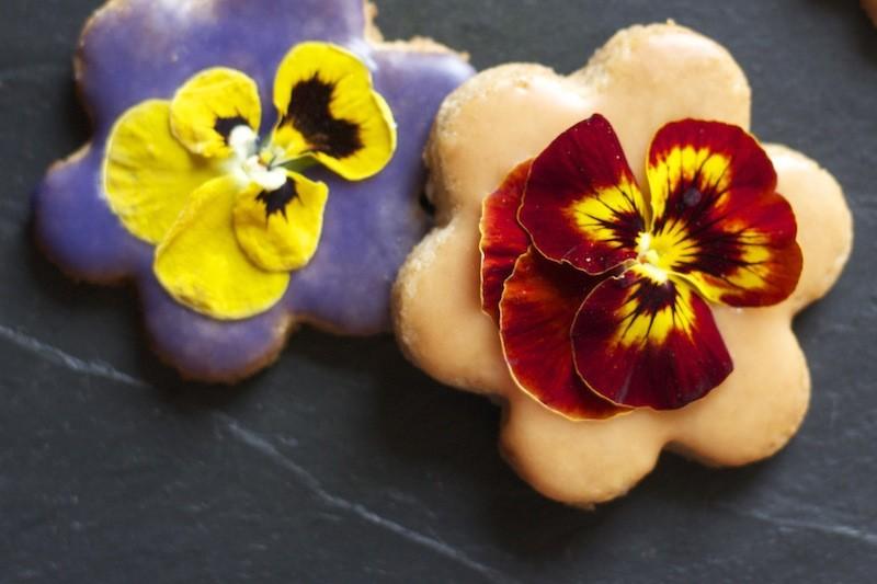 biscotti frolla ai fiori