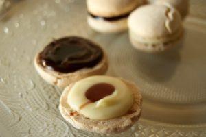 Macarons ganache con riduzione lambrusco