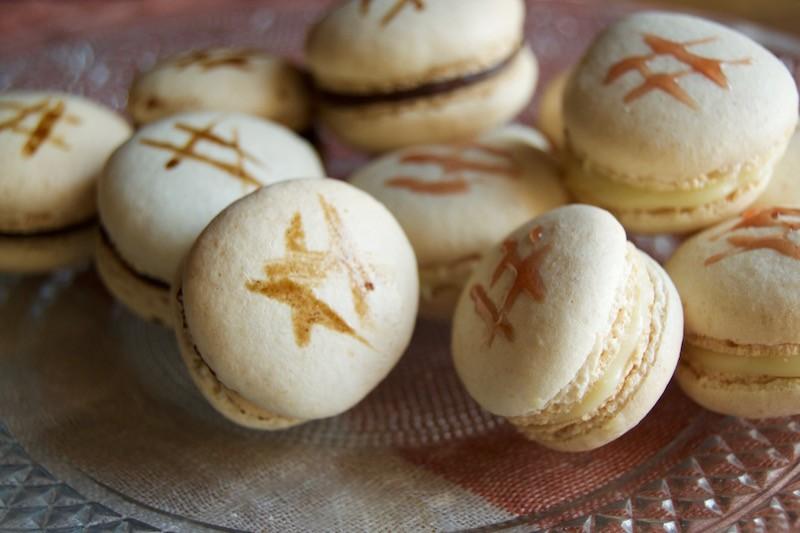 Macarons riduzione vino lambrusco