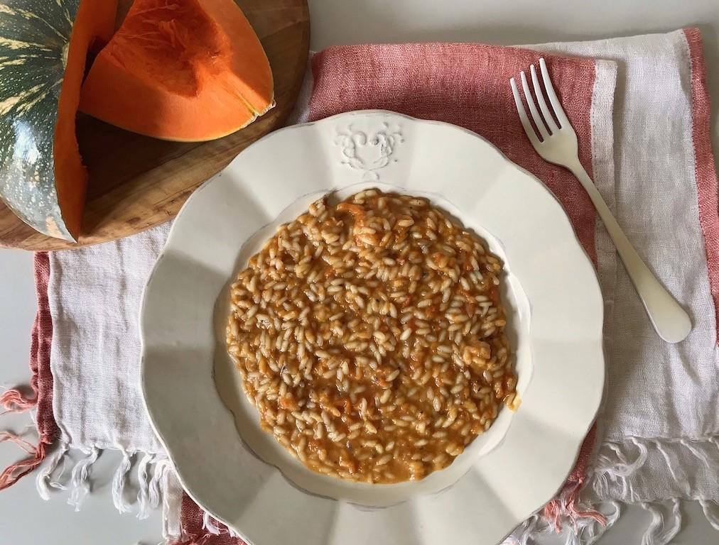 risotto zucca con arachidi